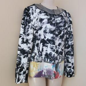Chicos japanese sequin blazer/jacket